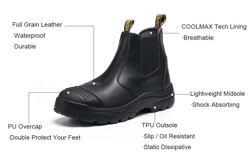 waterproof work boots for men