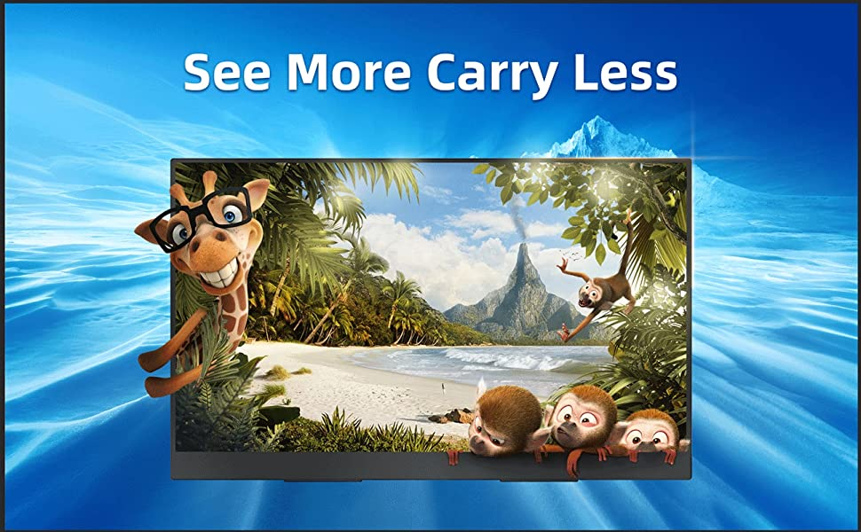 17 inch portable monitor usb c monitor usb type c portable monitor gaming monitor HDMI FULL HD 1080P