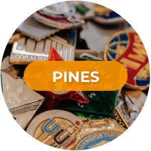 pines para solapa