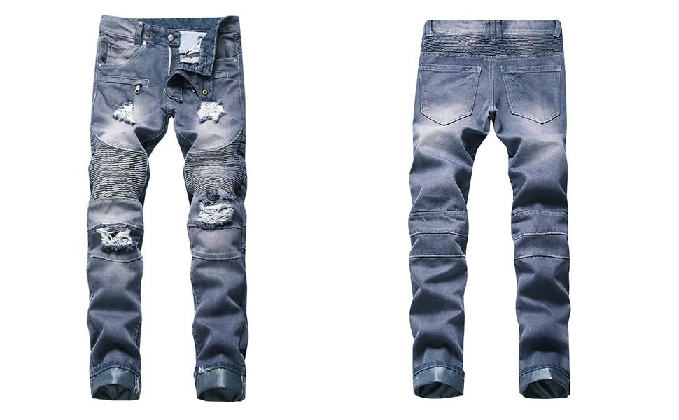 skinny jeans for men ripped biker slim fit