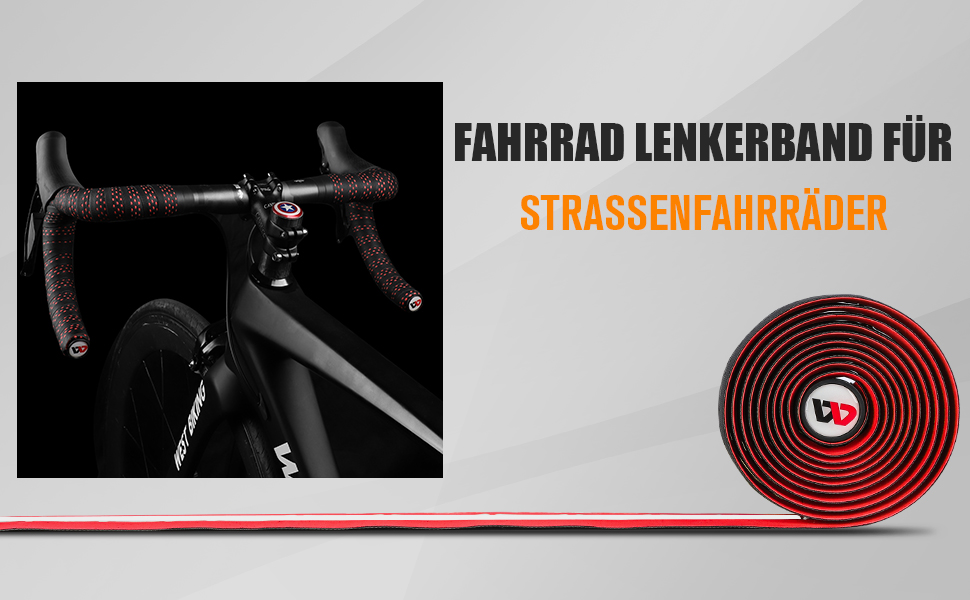 2x Fahrrad Lenkerbänder Lenkerband Wasserdicht Rutschfest Rennrad Lenker Bänder