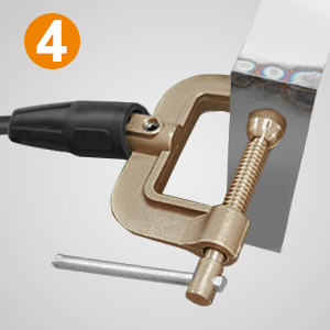 500A Brass G Shape Ground Welding Earth Clamp for Welding Machine Durable US