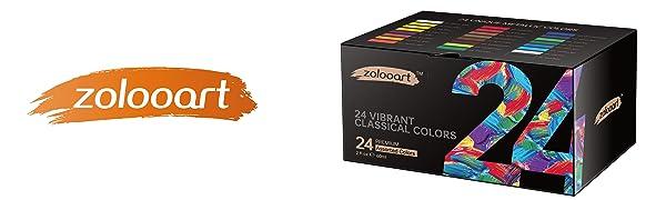 acrylic paint set zolooart 24 colors