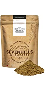Sevenhills Wholefoods Proteína De Cáñamo Cruda En Polvo Orgánico