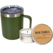 man men gift box tumbler candle