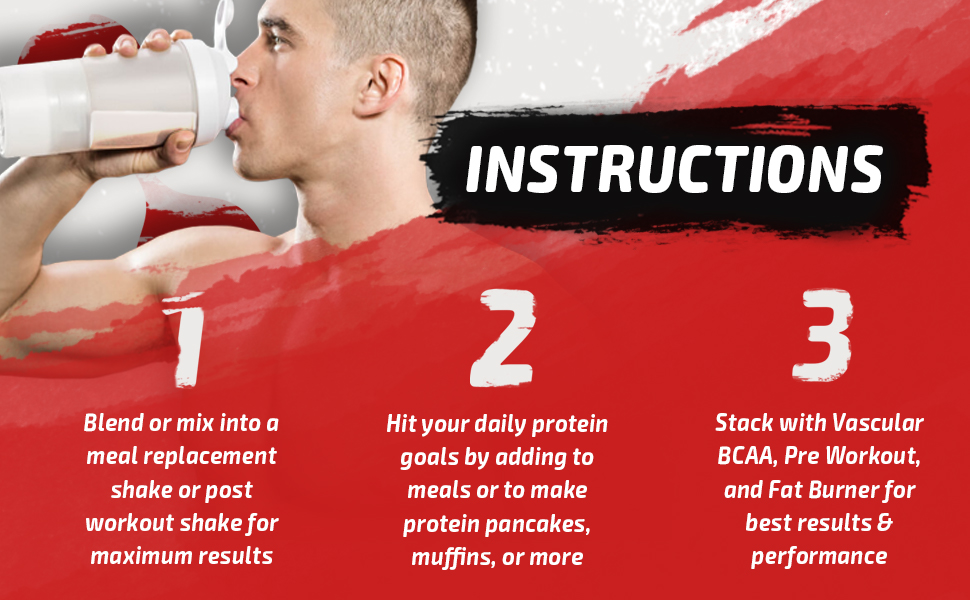Vascular Nutrition, Whey Protein, Vanilla, Isolate Protein, Fitness, Mass, Protein, Muscle, Enzymes