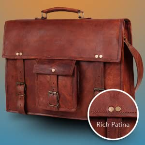 premium quality real Leather Messenger Handmade Laptop Satchel Bag School Bags men women gifts