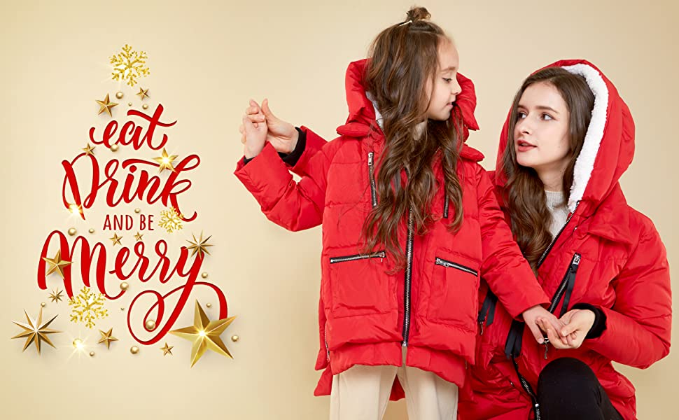 Orolay Women's Thickened Down Jacket (Most Wished &Gift Ideas) (Red, XX-Small)