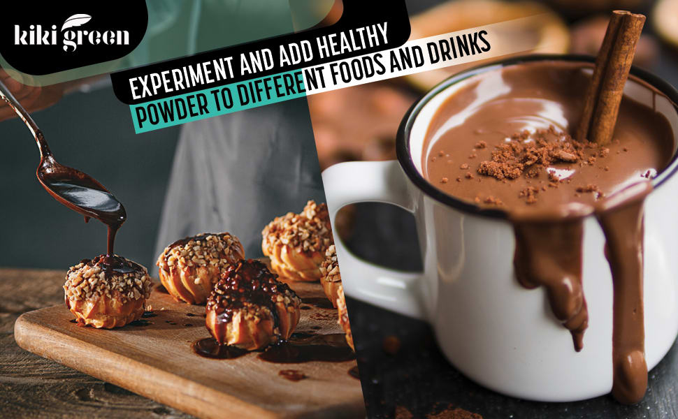 Experiment and add healthy powder to different foods and drinks