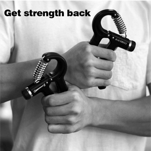 Blue GingerX Premium 30lbs Hand Grip Ring for Hand and Forearm Strength