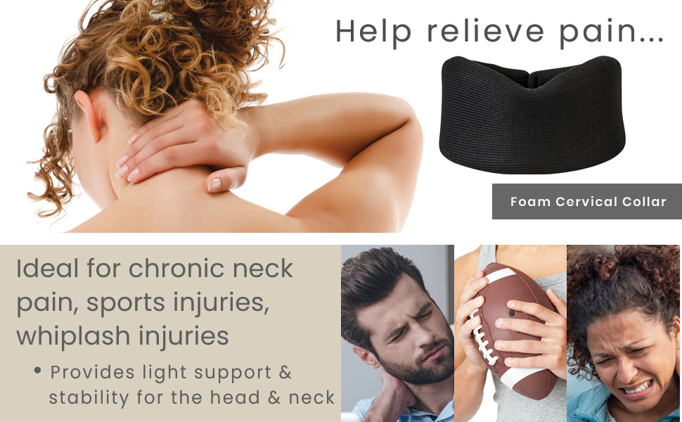 Foam Cervical Collar for neck pain sports injuries and whiplash
