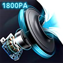 ultra-strong suction power 1800pa 1400pa japanese super motor