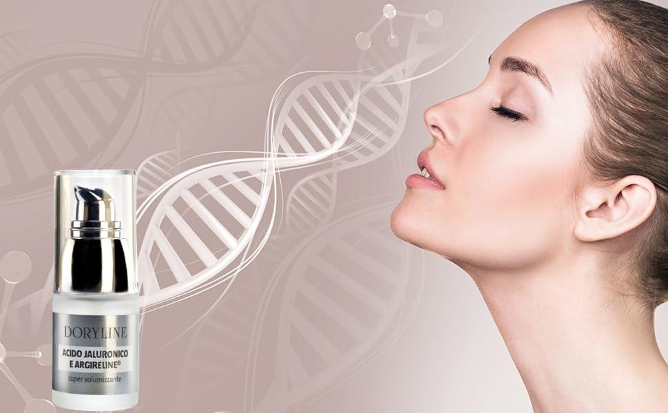 DORYLINE Suero Facial de Acido Hialurónico Puro con Argireline® 15ml, Crema Facial Antiarrugas Elastificante e Hidratante, Gel Relajante 100% Made in ...