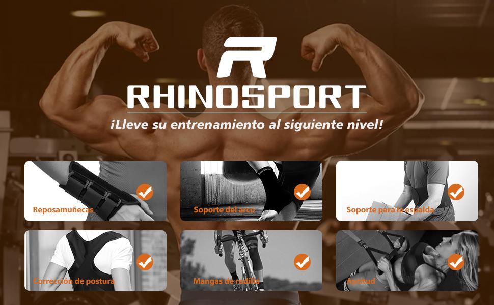 RHINOSPORT Entrenamiento en Suspensión, Eentrenador en Suspensión Correa de Suspensión Suspension Trainer Suspensión de Fitness Pro Ejercicio