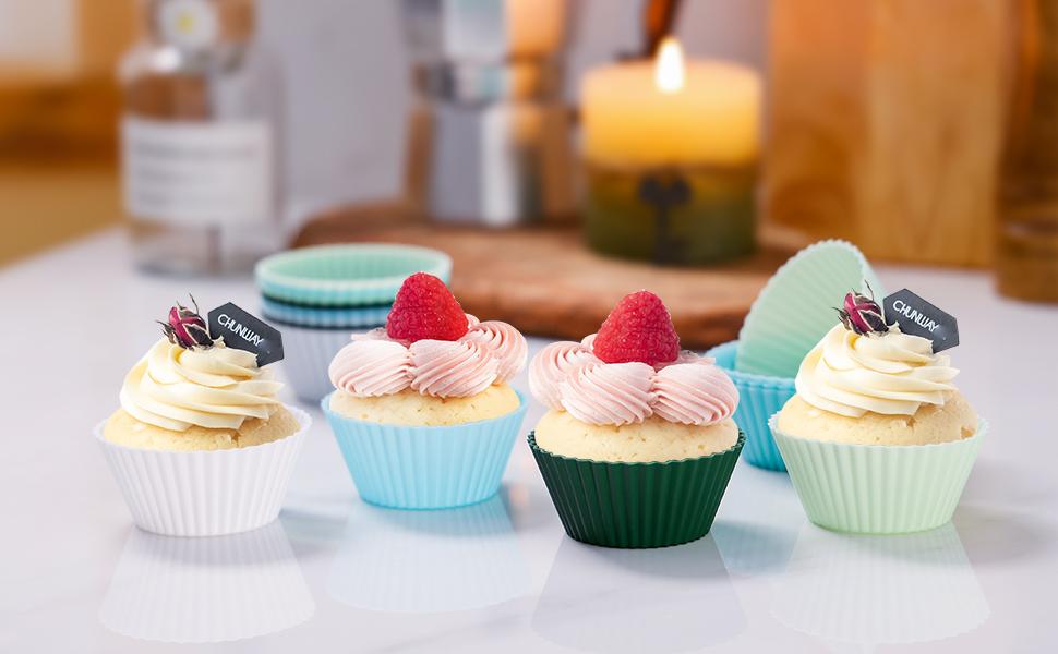 TeaRoo Silicone Baking Cups