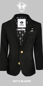 Black n Bianco Boys Golden Age Slim Fit Blazer