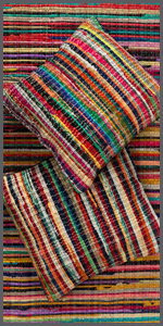 cushion covers made from rags and rug made from rags or chindi