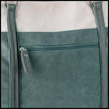 Zip pocket on the back