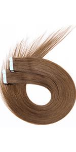 Tape in human hair