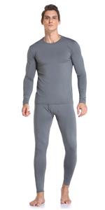 Thermal Underwear Set for Men Grey