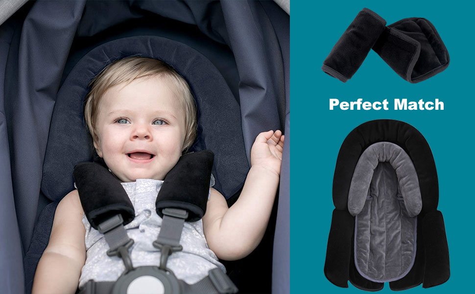 RED CHILD TODDLER CAR SEAT SEATBELT COVER HARNESS SAFETY BABY PRAM STOLLER NAPPY