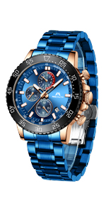 orologio uomo blu