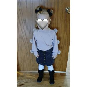Pompom Top Skirt Set