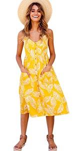 Yellow Boho Dress