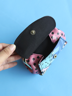 monedero estampado broche kisslock nicolelee