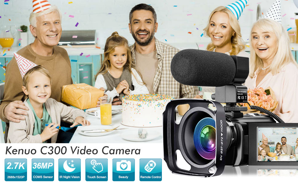 Flashandfocus.com c75f5d8e-a0c6-46da-9092-f4e9f45b024b.__CR0,0,970,600_PT0_SX970_V1___ Video Camera 2.7K Camcorder with Microphone Ultra HD 36MP Vlogging Camera for YouTube IR Night Vision 3 Inch Touch…