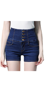 Light Blue High Waist Shorts With Ribbon Lace Up Sides in Small and Medium
