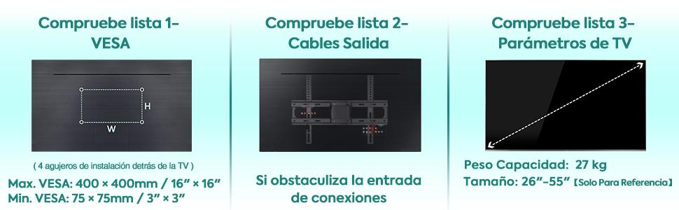 soporte tv pared 40 pulgadas Mounting Dream MD2377-02 Giratorio Brazo Pulgadas 26 40 55