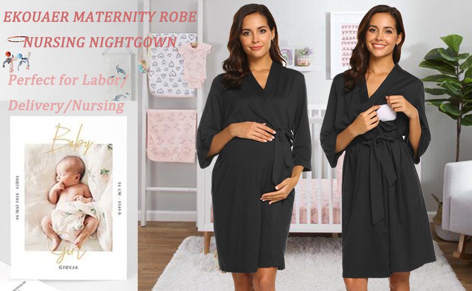Nursing Nightgowns Bathrobe