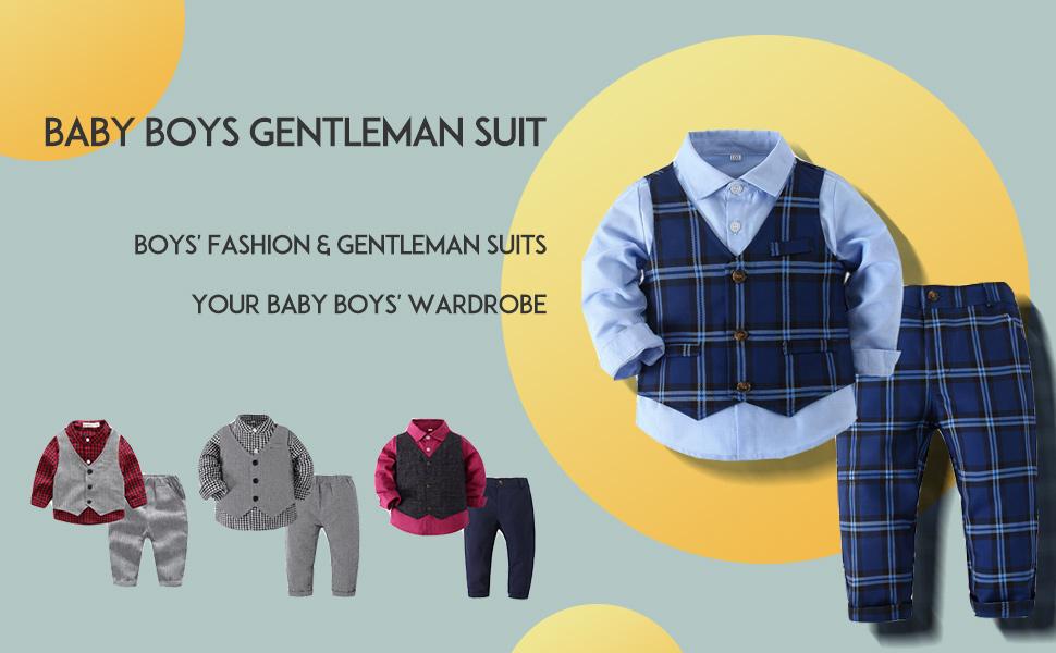Boys' Plaid Button Down Clothes Sets
