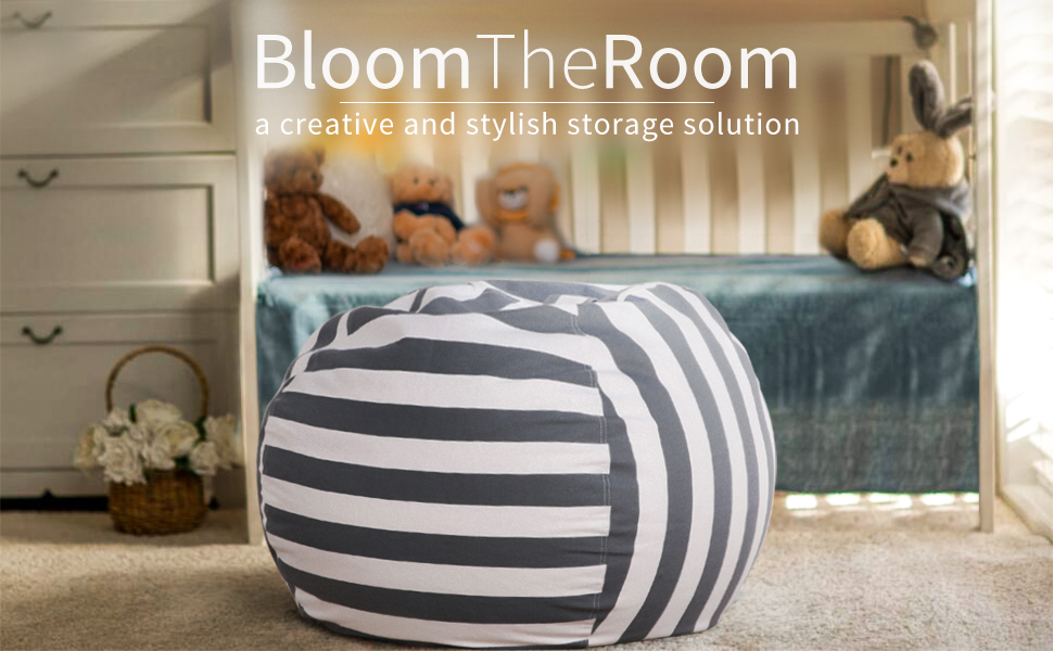 stuffed animal bean bag pouf storage chair