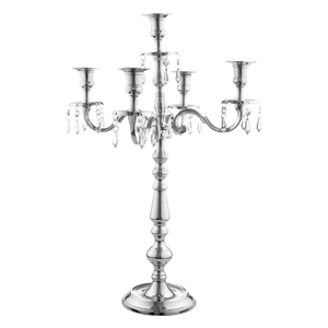 Single Candelabra Polished Silver Nickel Height 47cm Wedding Dinning Candlestick