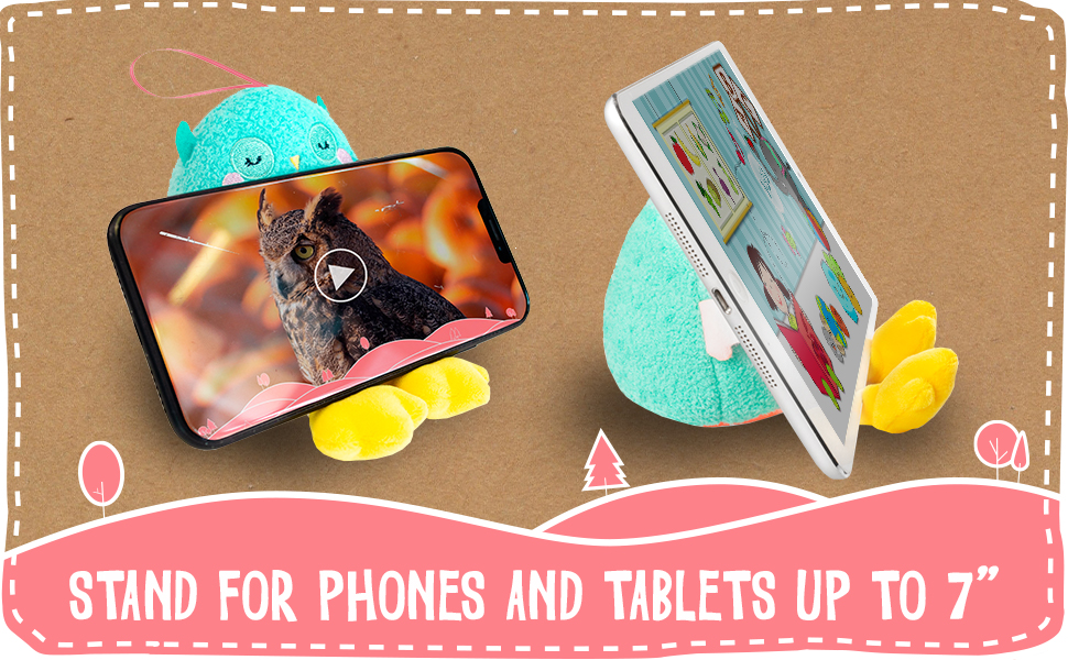planet buddies, phone stand, phone holder, screen wiper, penguin, plush, toy, cute, home accessories