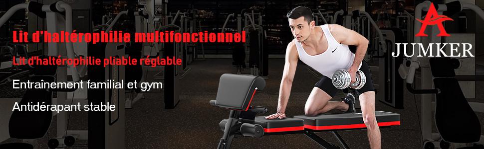 Banc de musculation multi Réglable Gym Entraînement Exercice plate INCLINE DECLINE sit up
