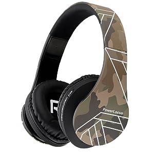 PowerLocus P2 – Auriculares Bluetooth inalambricos de Diadema Cascos Plegables, Casco Bluetooth con Sonido Estéreo Micro SD/TF, FM con micrófono y Audio Cable para iPhone/Samsung/iPad/PC (Camuflaje): Amazon.es: Electrónica