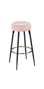 duhome modern velvet barstools desk chair