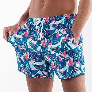 mens mid thigh swim trunks mens banana shorts swim trunks slim fit pattern swim trunks