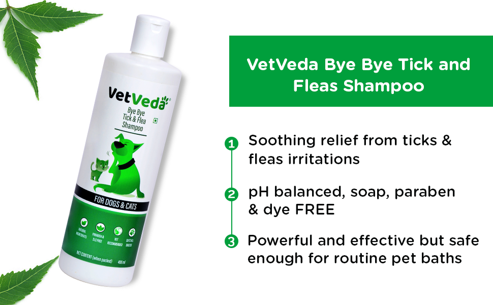 vetveda tick fleas shampoo for dogs in india