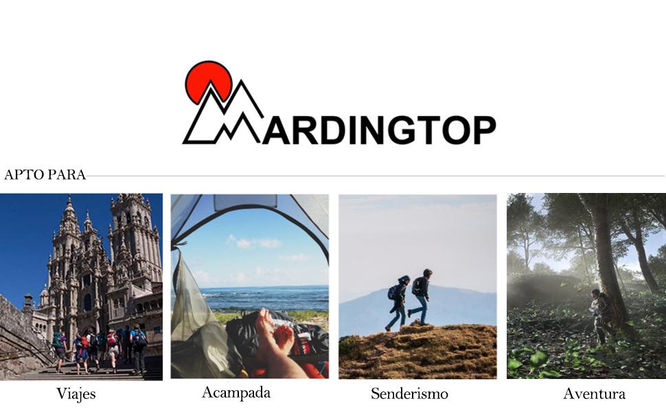 Mardingtop 65/65+10L Mochila Táctica Militar Mochila de Asalto para Senderismo Acampada Senderismo Outdoor, Gran Capacidad, Unisex