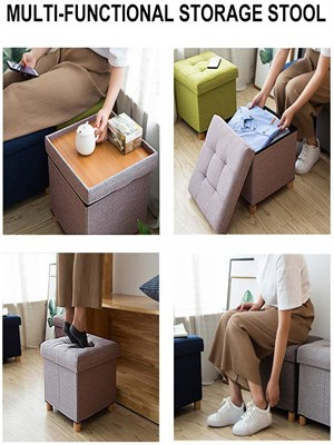 Fabric Ottoman Footrest