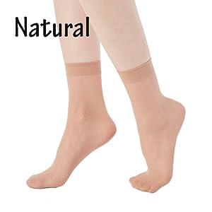 Naturfarbene, hautfarbene Socken