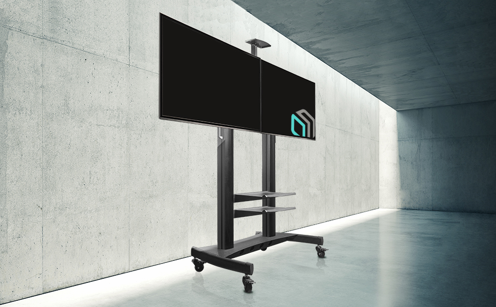 TS3881 mobile tv stand in living room