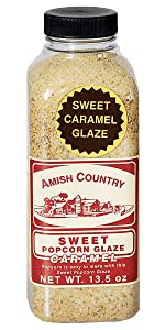 Sweet Cararmel Glaze Amish Country Popcorn Old Fashioned Stovetop Microwave