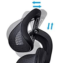 adjustable headrest height adjustable