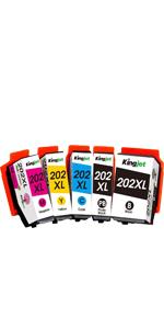 Kingjet 202xl Druckerpatronen Ersatz Für Epson 202xl 202 Kompatibel Mit Epson Expression Premium Xp 6000 Xp 6005 Xp 6100 Xp 6105 2 Schwarz 1 Foto Schwarz 1 Cyan 1 Magenta 1 Gelb Bürobedarf Schreibwaren