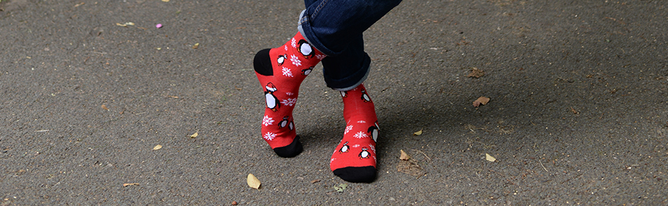 Calcetines tobilleros, calcetines redondos, calcetines navideños, calcetines festivos